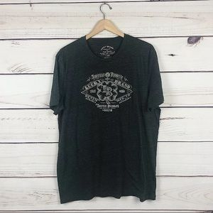 Lucky Brand Mens Gray Graphic T Shirt Western XL